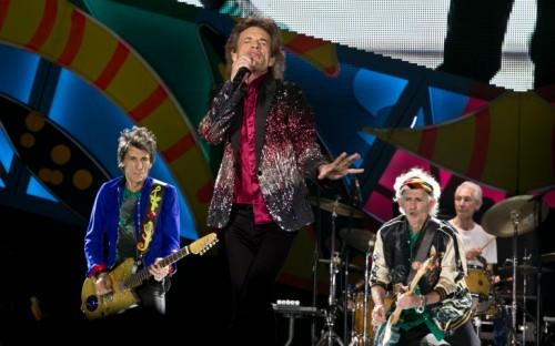 The Rolling Stones perform in Havana, Cuba, Friday, March 25, 2016. The Stones are performing in a free concert in Havana Friday, becoming the most famous act to play Cuba since its 1959 revolution.(AP Photo/Enric Marti)