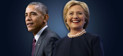 Μπάρακ Ομπάμα και Χίλαρι Κλίντον. Η ομιλία του πρώτου στην Αθήνα συνάντησε τον θαυμασμό των υποστηρικτών της ελληνικής κυβέρνησης, ενώ η δεύτερη υποστηρίχθηκε από όλη σχεδόν την ευρωπαϊκή Αριστερά, με τη λογική του μικρότερου κακού απέναντι στον Ντόναλντ Τραμπ